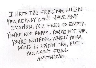 i feel empty and numb